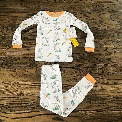 Bunny Pajamas For Kids (BURTS BEES Kids/toddler PAJAMAS Rabbit Habit Bunny Organic Adorable Snug Fit)