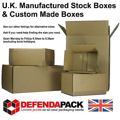 5 Cardboard POSTAL SHIPPING CORRUGATED BOXES 8x8x8