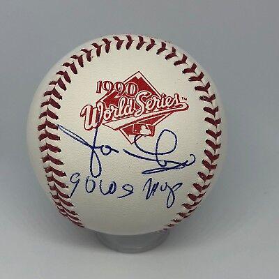 Jose Rijo signed Rawlings 1990 Official World Series Baseball JSA Reds MVP A150