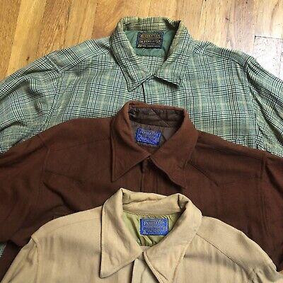 1970s Men's Shirt Styles – Vintage 70s Shirts for Guys Vintage 1970s Lot Of (3) Pendleton  Western Wool Shirt Medium USA $100.00 AT vintagedancer.com