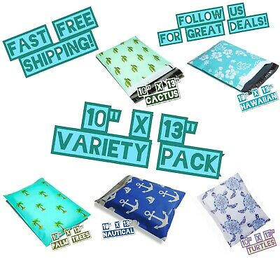 150 Mix Design 10x13 Poly Mailers Variety Pack 30 Ea Shipping Envelopes