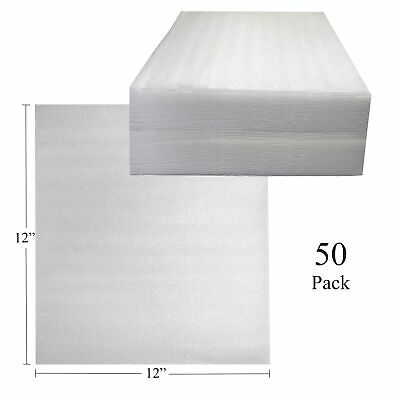 Uboxes Foam Sheets 12 X 12 50 Pack 116 Thick Cushioning Wrap