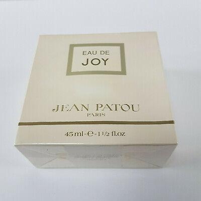 Jean Patou Eau De Joy Perfume 45ml Splash New Sealed & Boxed ( Rare Vintage )