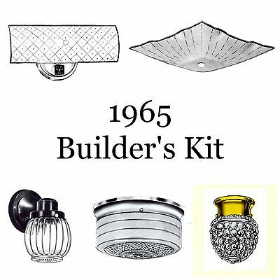 1965 NEW Generation Whole House BUILDER'S KIT Puritan LOT of 8 Light Fixtures HOME