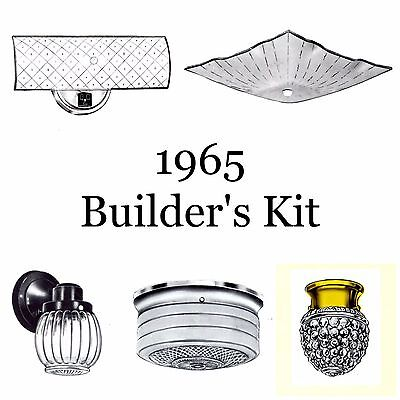 1965 NEW Over the hill Whole House BUILDER'S KIT Puritan LOT of 8 Light Fixtures HOME