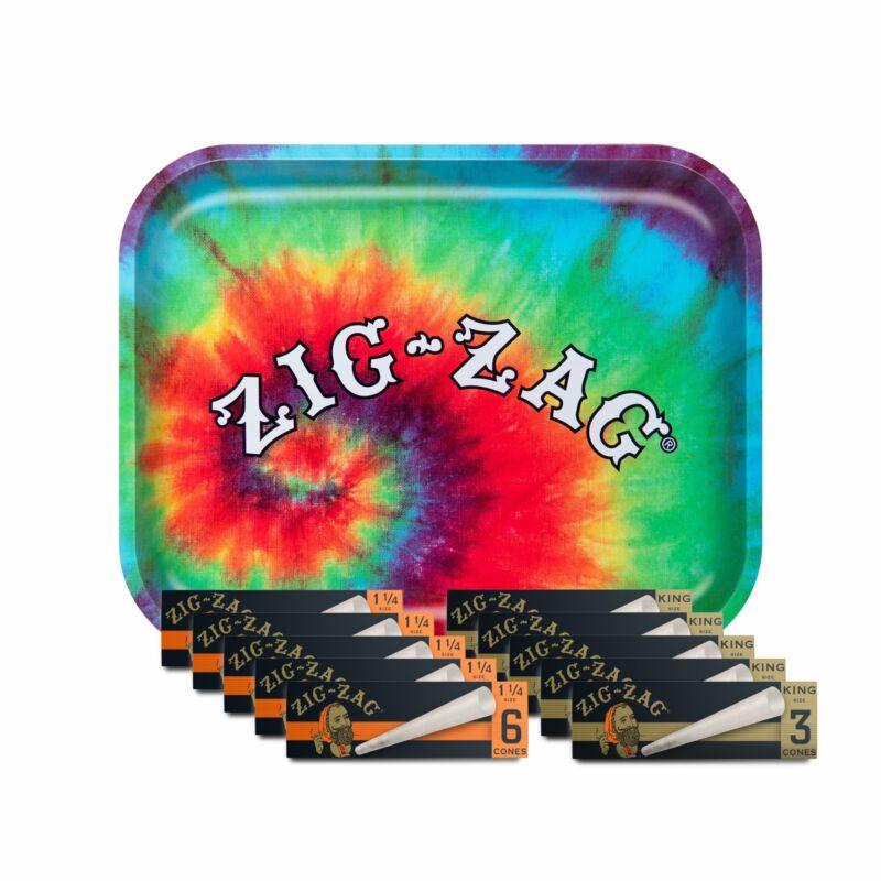 Zig-Zag Pre Rolled Cones and Tye Dye  Bundle