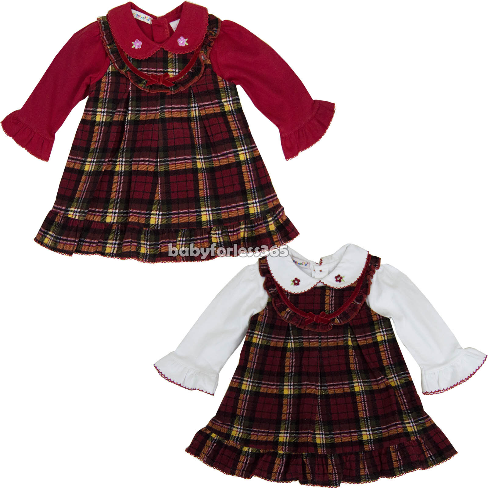 New Baby Girls Long Sleeve Winter Dress Outfits Clothing Size 3 6 9