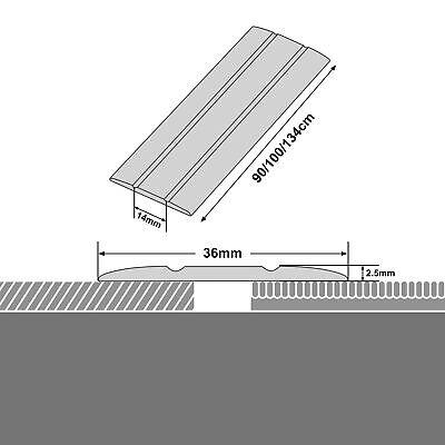 Übergangsprofil Alu Abschlussprofil Bodenprofil Abdeckleiste Kleben o. Schrauben