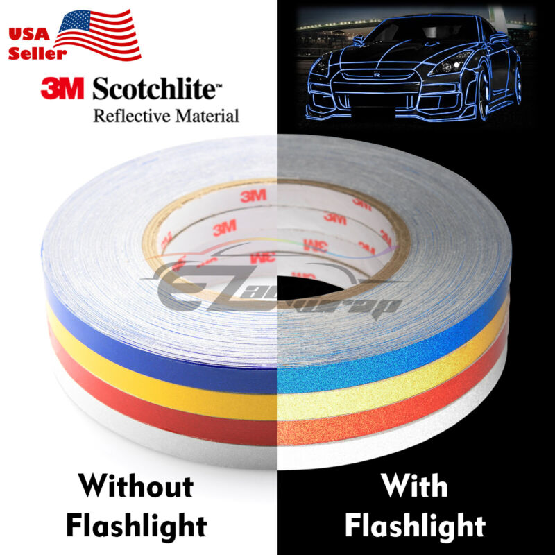 3M Reflective Tape Safety Self Adhesive Striping Sticker Decal 1CMx150FT / Roll