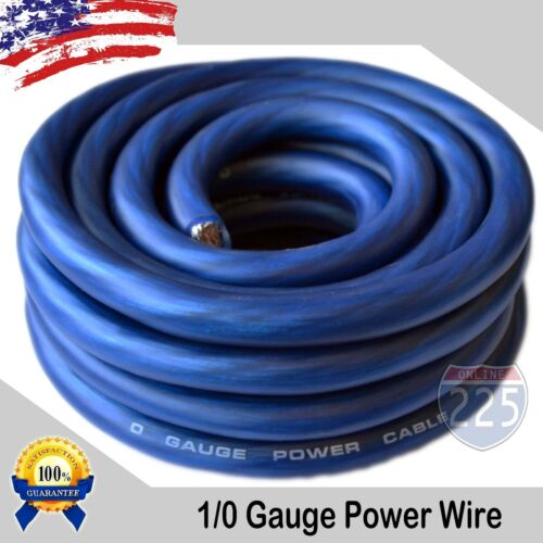 25Ft True 1/0 0 AWG Gauge Power Ground Wire Strand Cable 25