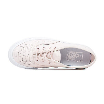 8c27314680 Vans Authentic Weave Leather Delicacy Women s 8 Skate Shoes New Peach Pink