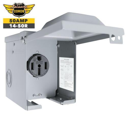 Power Outlet Box 50 Amp Nema 14-50r 125/250 Volt Weatherproof Lockable