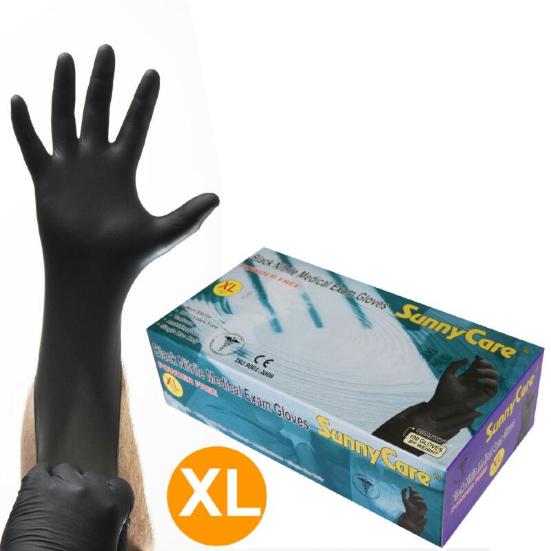 SunnyCare #8904 5mil Black Nitrile Exam Gloves Powder-Free (Latex Vinyl Free) XL