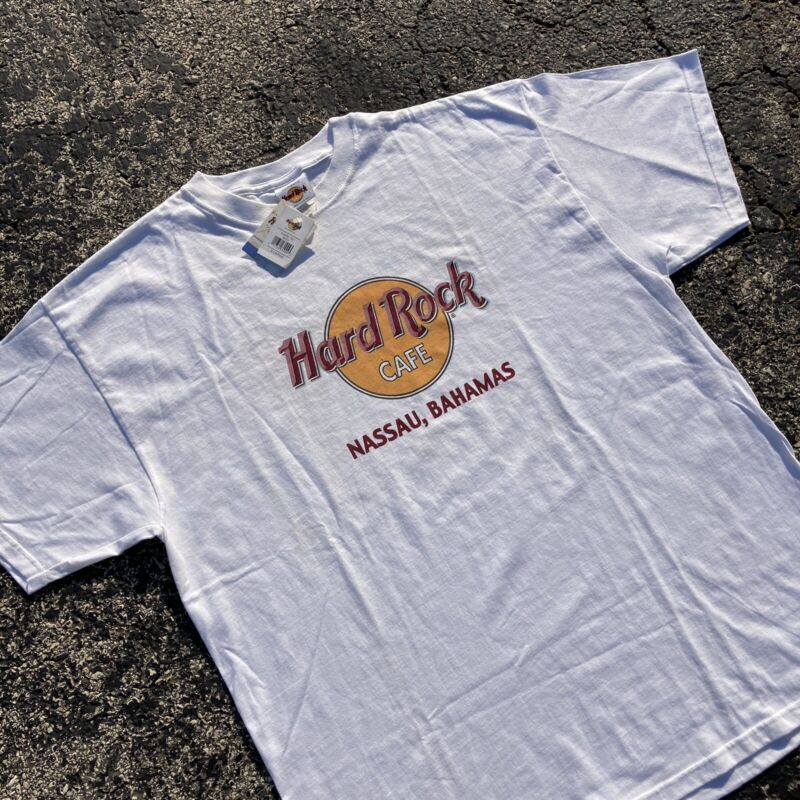 Hard Rock Cafe Nassau Bahamas T-Shirt New with Tags Size XL vintage y2k nos