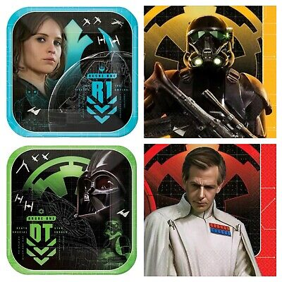 Star Wars Rogue One Birthday Party Supplies Plates & Napkins Build Your Own Set - Star Wars Party Plates