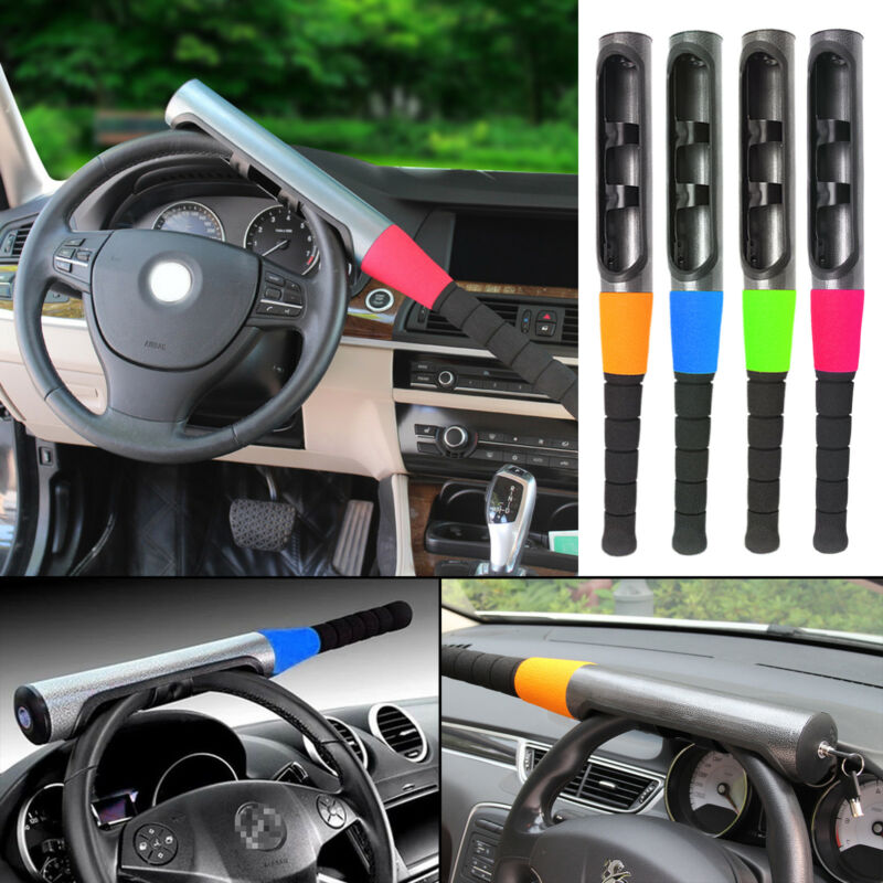 Car Van Vehicle Steering Wheel Security Lock Heavy Duty Baseball Bat Anti Lock