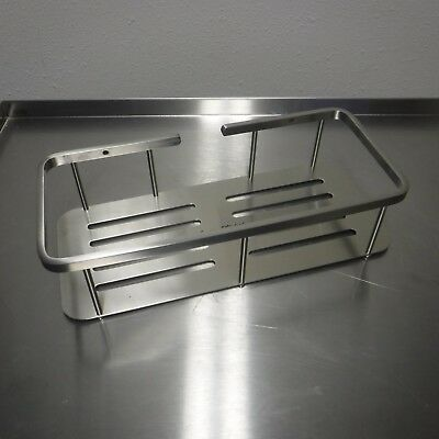 American Standard Brushed Metal Rectangular Shower Shelf 1202-012.266 (Brushed Shelf)