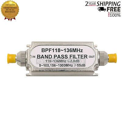 Sma Bandpass Filter Bpf 118-136mhz Band Pass Filter For Aeronautical Band