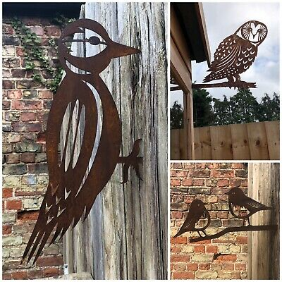 3 Rusty Metal Birds Garden Ornaments decorations features Signs SPECIAL OFFER