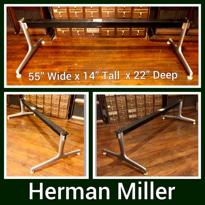 Eames Herman Miller Shell Tandem Seating System Chair Bench Table Frame Base MCM