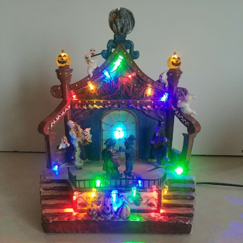 Lighted Spooky Night Halloween Carousel Decoration (Similar to Lemax)