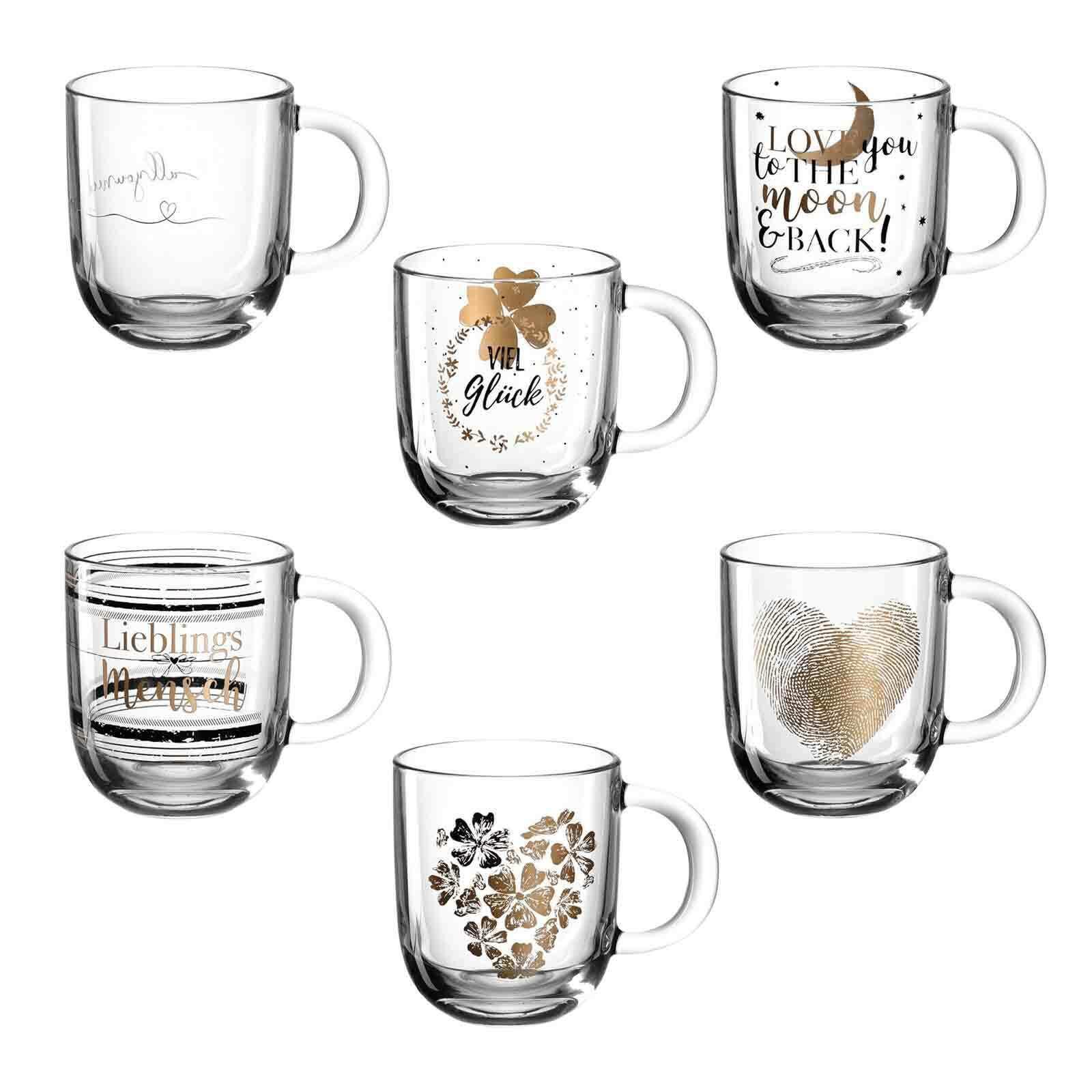 Leonardo EMOZIONE Glas Tasse Becher für Tee Kaffee 0,3l Geschenkidee
