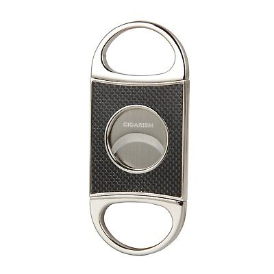 Carbon Cutter - CIGARISM Genuine Carbon Fiber Stainless Steel Cigar Cutter Punch