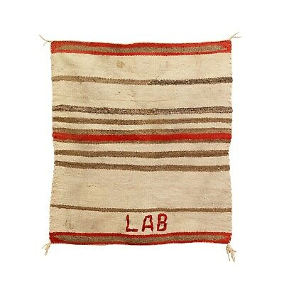 "Navajo Single Saddle Blanket Weaving LAB 28"" x 36"""