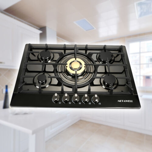 """Modern 30""""Stainless Steel 5 Burners Built-In Stove Cooktop G"""