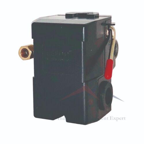Quality Air Compressor Pressure Switch Control 140 - 175 PSI 4 Port w/ Unloader