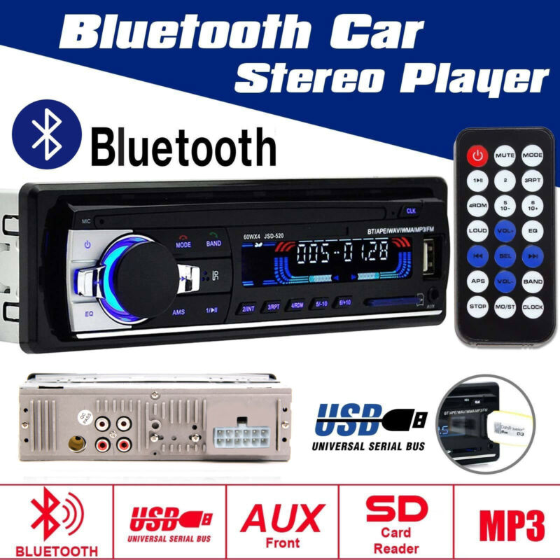 MP3 Player Auto Radio USB/SD Bluetooth FM Stereo AUX-IN LCD WMA + Fernbedienung
