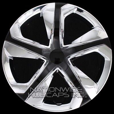 "16"" Set of 4 Chrome Black Wheel Covers Snap On Hub Caps fit R16 Tire & Steel Rim"