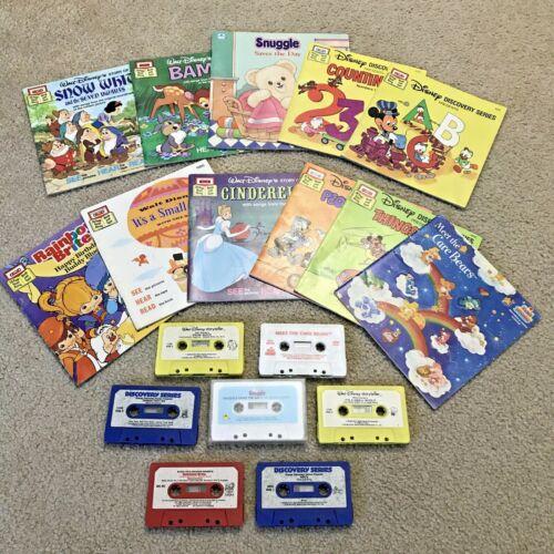 Vintage Walt Disney & Others Lot Of 11 Storyteller Read Along Books & Cassettes