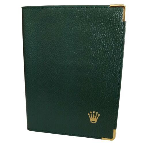 Rolex Dark Green Leather Passport Holder and Card Wallet 0068.08.05