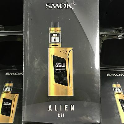 Full Gold  100% Authentic  Smok Alien KIT 220W TC with Gold TFV8 Baby Beast Tank