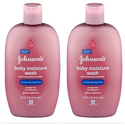 Johnson's Baby Moisture Care Wash With Lotion, 15 Oz Lot of 2 Free Shipping