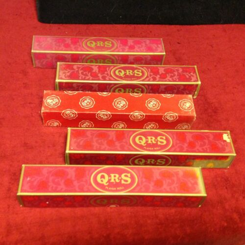 Lot Vintage QRS Player Piano Word Rolls Blue Moon Christmas Believe Beer Polka