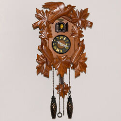 Cuckoo Clock Quartz Hand Carved Wood