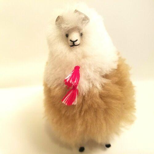Alpaca Fur Fluffy Plush Animal Figure Wild Animals