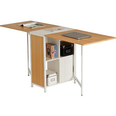 Foldable Compact Computer Desk Storage w Home Office Piranha Furniture PEACOCK