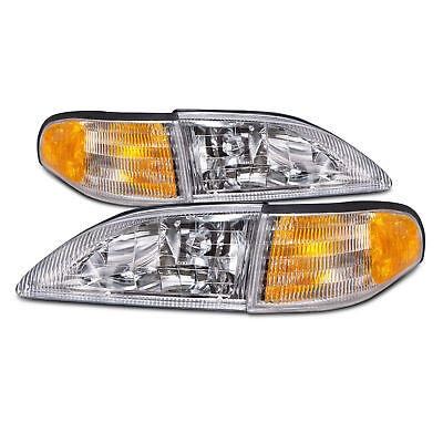 TIFFIN ALLEGRO BUS 1998 1999 2000 CLEAR HEADLIGHTS CORNER TURN SIGNAL - SET