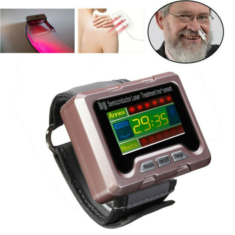 650nm Wrist Diode Laser Therapy Watch Apparatus for Diabetes Blood Pressure Home