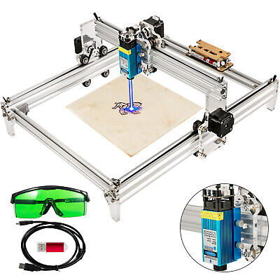 2500mw Mini Cnc 3040 Laser Engraver Gray Engraving Router Wood Plastic Diy Us