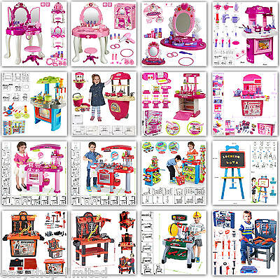 Pink Electronic Children Kids Kitchen Cooking Role Play Toy Cooker Set Popular