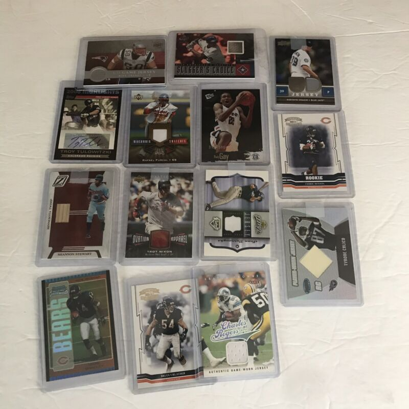 Lot Of Sportscards Baseball Football Basketball Autographs Game Worn