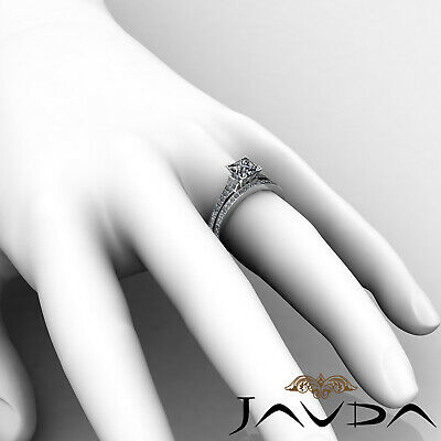 4 Prong Bridal Set Round Diamond Engagement Ring GIA F Color VS2 Clarity 1.57Ct 6