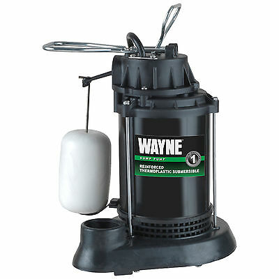 Submersible Sump Pump Wayne Spf33 13 Hp Thermoplastic Wvertical Float Switch