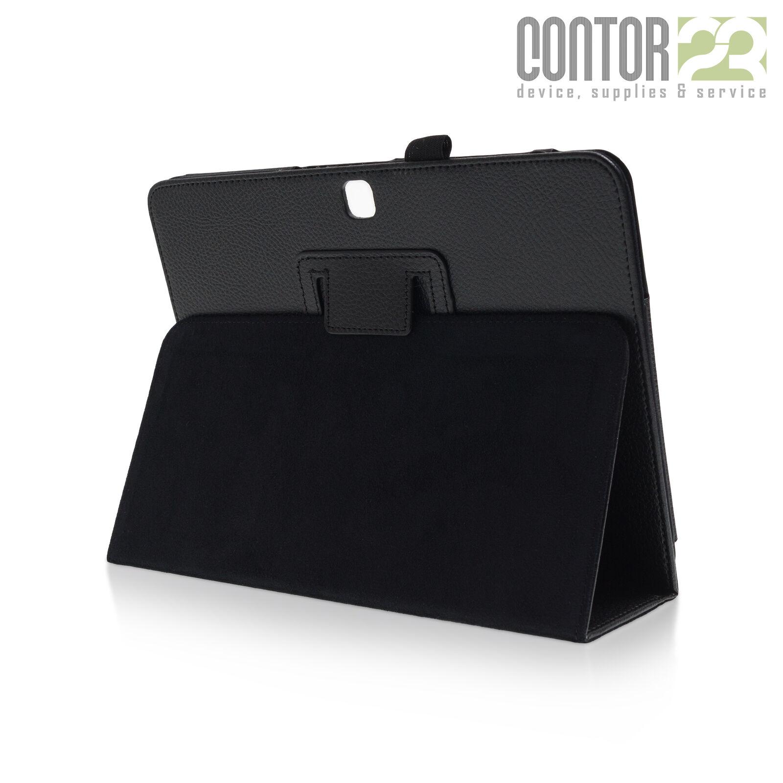 """Tablet Schutzhülle Tasche Case SCHWARZ [10.1"""" Samsung Galaxy Tab 4 SM-T530/T535]"""