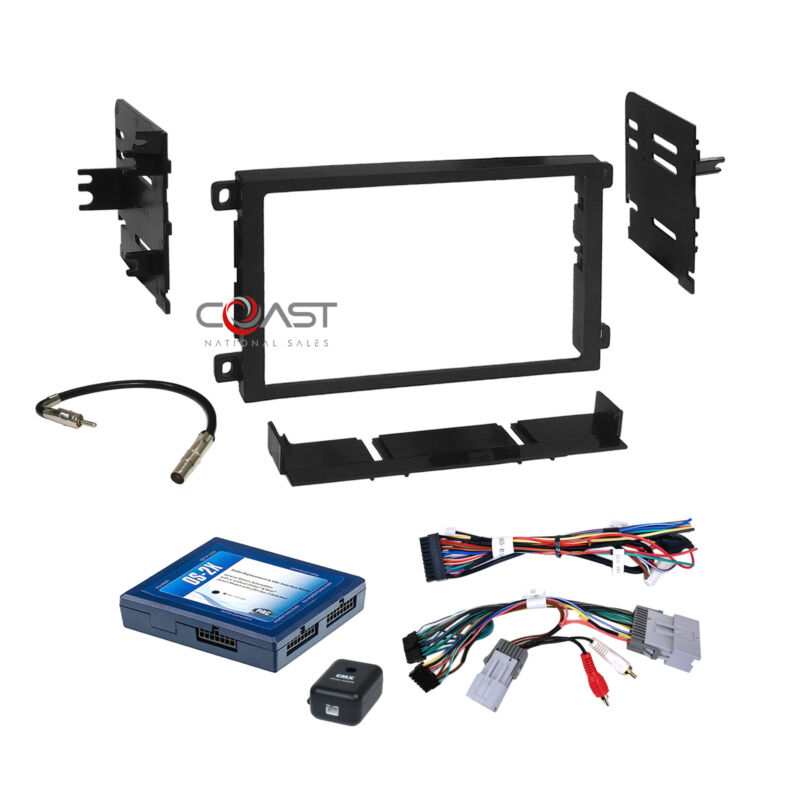 Car Radio Stereo Dash Kit Onstar Bose Harness for 2000-up GM GMC Chevrolet Cad