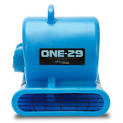 BlueDri ONE-29 Air Mover Carpet Dryer Blower Floor Fan High CFM Low Amps Blue